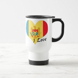 Amo el Moldavia Taza Térmica