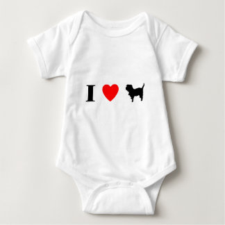 Amo el mono del bebé de los Affenpinschers Body Para Bebé