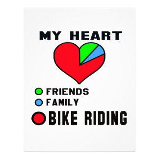 Amo el montar a caballo de la bici membrete a diseño