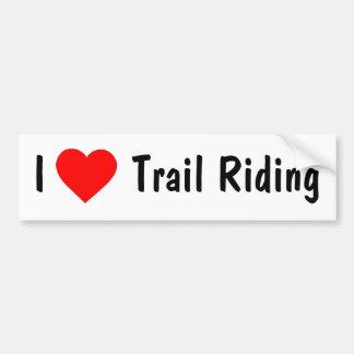 Amo el montar a caballo de rastro pegatina para auto