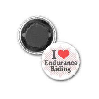 Amo el montar a caballo de resistencia imán redondo 3 cm