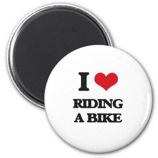 Amo el montar de una bici imán redondo 5 cm
