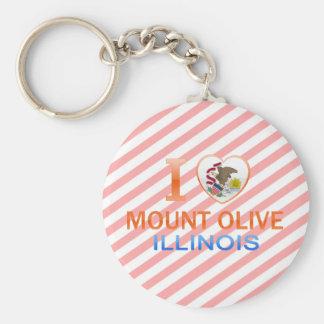 Amo el Monte Olive, IL Llaveros Personalizados