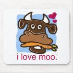 Amo el MOO Tapetes De Ratones