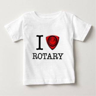 Amo el motor rotatorio playera de bebé