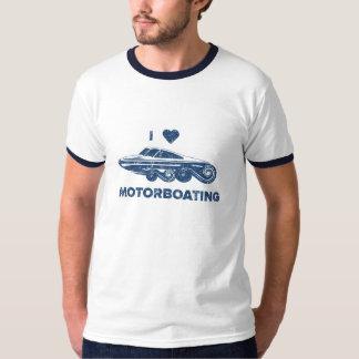 Amo el motorboating camisas