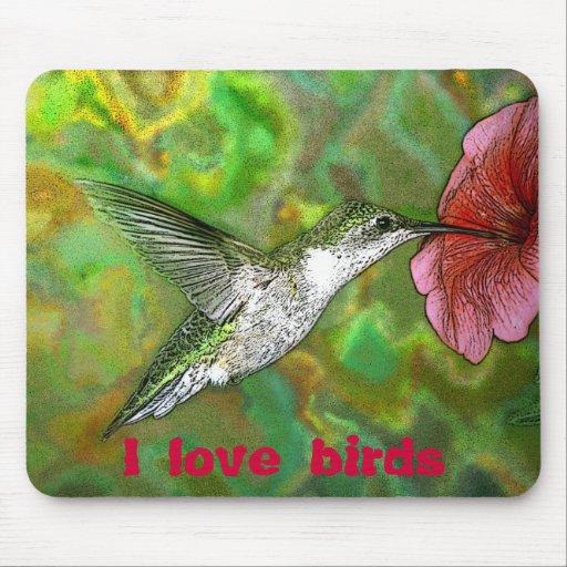 Amo el mousepad de los pájaros