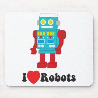 Amo el mousepad de los robots tapetes de ratón