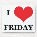 Amo el mousepad de viernes del corazón, idea del r alfombrilla de raton