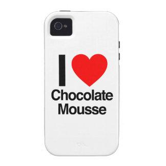 amo el mousse de chocolate iPhone 4 carcasa