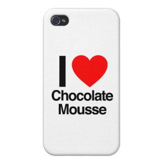 amo el mousse de chocolate iPhone 4 cobertura