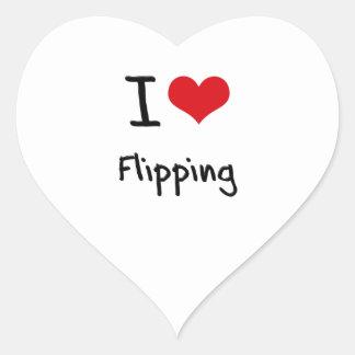 Amo el mover de un tirón pegatina corazon personalizadas