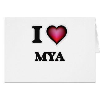 Amo el Mya Tarjeta De Felicitación