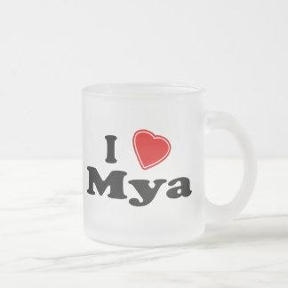 Amo el Mya Taza De Cristal