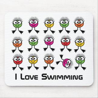 Amo el nadar - estera del ratón alfombrillas de ratón
