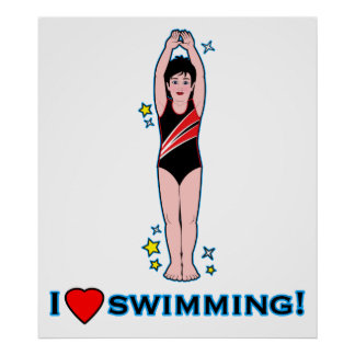 Amo el nadar impresiones