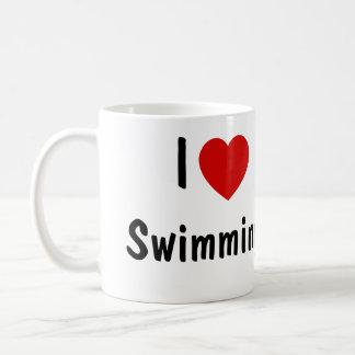 Amo el nadar tazas de café