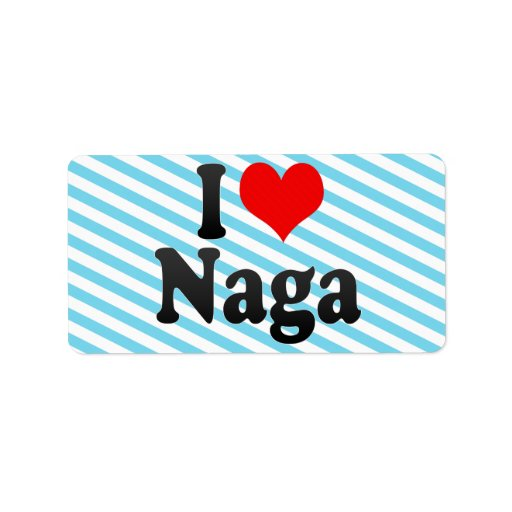 Amo el Naga, Filipinas Etiqueta De Dirección