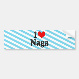 Amo el Naga, Filipinas Pegatina Para Auto