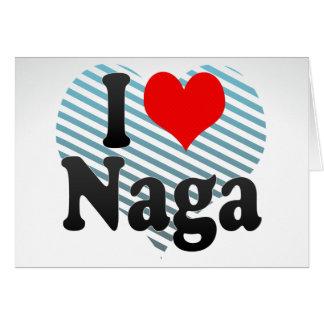 Amo el Naga, Filipinas Tarjeta Pequeña