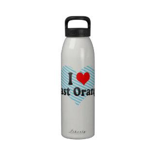 Amo el naranja del este Estados Unidos Botellas De Agua Reutilizables