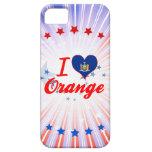 Amo el naranja, Nueva York iPhone 5 Case-Mate Carcasas