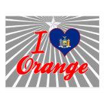 Amo el naranja, Nueva York Tarjetas Postales