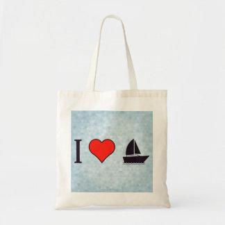 Amo el navegar bolsa tela barata