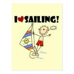 Amo el navegar de las camisetas y de los regalos tarjeta postal