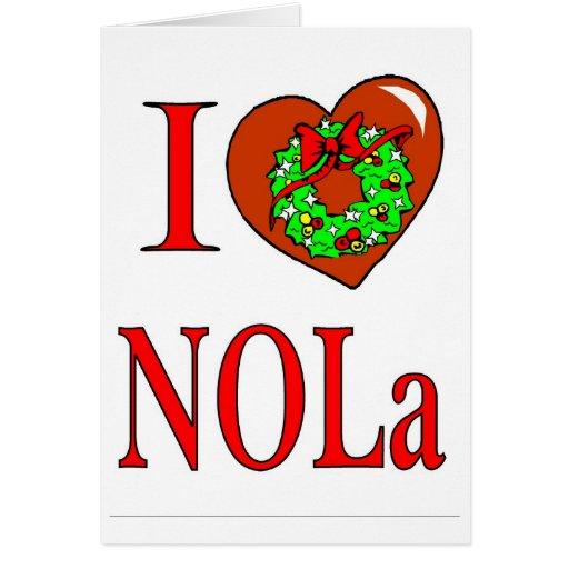Amo el navidad de New Orleans Tarjetas