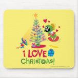 Amo el navidad - MARVIN el MARTIAN™ Tapete De Ratones