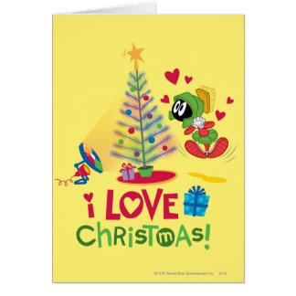 Amo el navidad - MARVIN el MARTIAN™ Tarjeta De Felicitación
