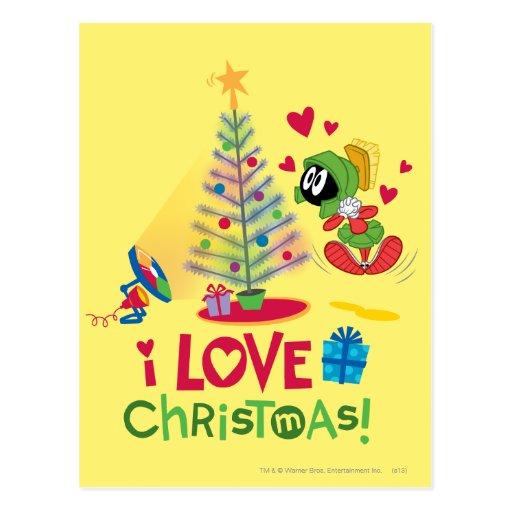 Amo el navidad - MARVIN el MARTIAN™ Tarjeta Postal