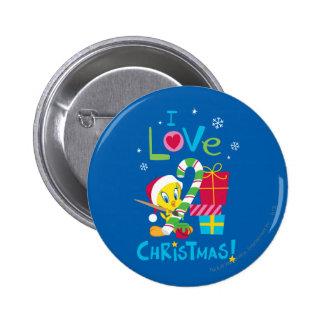 Amo el navidad - TWEETY™ Pin Redondo De 2 Pulgadas