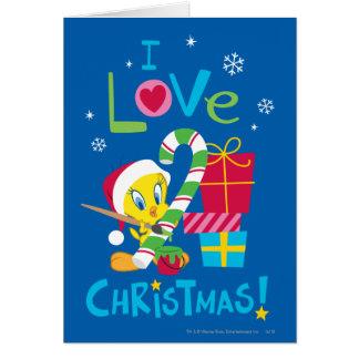 Amo el navidad - Tweety Tarjeta