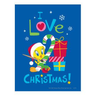 Amo el navidad - TWEETY™ Tarjeta Postal