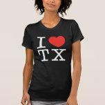 amo el negro de Tejas Camisetas