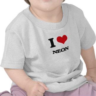 Amo el neón camisetas