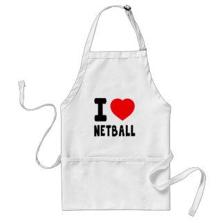 Amo el Netball Delantal