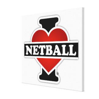 Amo el Netball Impresión En Tela