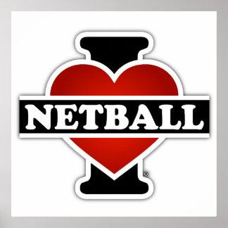 Amo el Netball Póster
