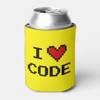 Amo el neverita de bebidas del código para los enfriador de latas