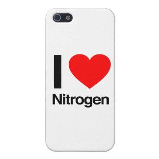 amo el nitrógeno iPhone 5 carcasas