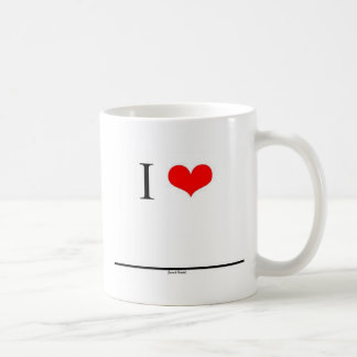 Amo (el nombre del parte movible) taza básica blanca