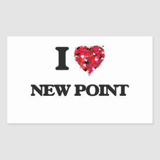 Amo el nuevo punto pegatina rectangular