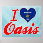 Amo el oasis, Wisconsin Poster
