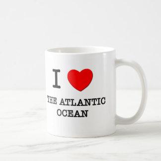 Amo el Océano Atlántico Tazas De Café