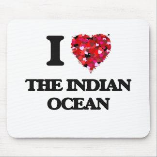 Amo el Océano Índico Alfombrillas De Ratones