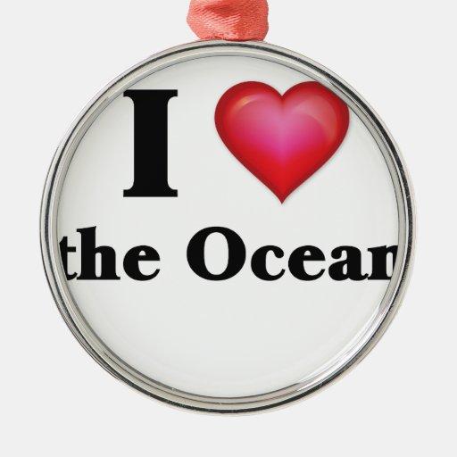 Amo el océano ornamentos para reyes magos