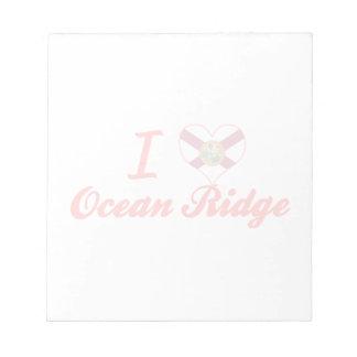 Amo el océano Ridge, la Florida Libretas Para Notas